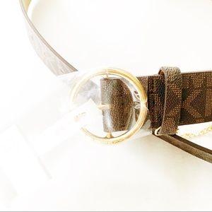 MICHAEL Michael Kors Accessories - Michael Kors MK signature loop chain charm belt